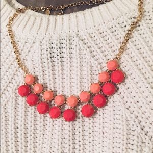 Charming Charlie's coral chunky necklace
